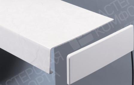 Ремонтная накладка на подоконник белая
